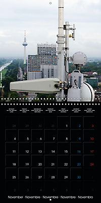 Over the Roofs of Mannheim (Wall Calendar 2019 300 × 300 mm Square) - Produktdetailbild 11
