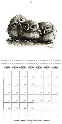 owls and mates 2019 (Wall Calendar 2019 300 × 300 mm Square) - Produktdetailbild 1