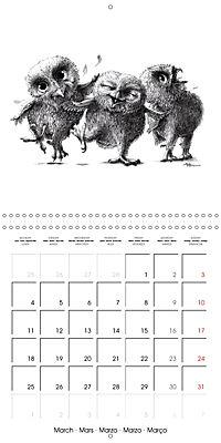 owls and mates 2019 (Wall Calendar 2019 300 × 300 mm Square) - Produktdetailbild 3