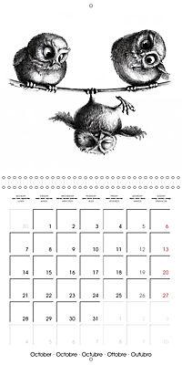 owls and mates 2019 (Wall Calendar 2019 300 × 300 mm Square) - Produktdetailbild 10
