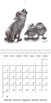 owls and mates 2019 (Wall Calendar 2019 300 × 300 mm Square) - Produktdetailbild 9