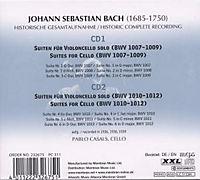 Pablo Casals - Cello-Suiten, 2 CDs - Produktdetailbild 1