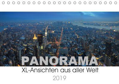 Panorama. XL-Ansichten aus aller Welt (Tischkalender 2019 DIN A5 quer), Uwe Bade