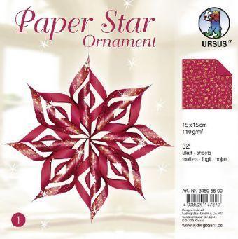 Paper Star Ornament 1, rot, URSUS®