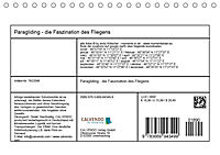 Paragliding - die Faszination des Fliegens (Tischkalender 2019 DIN A5 quer) - Produktdetailbild 13