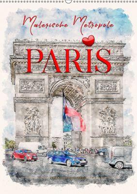 Paris - malerische Metropole (Wandkalender 2019 DIN A2 hoch), Peter Roder