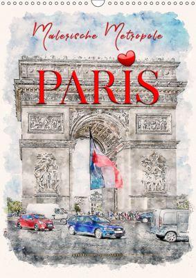 Paris - malerische Metropole (Wandkalender 2019 DIN A3 hoch), Peter Roder