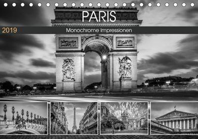 PARIS Monochrome Impressionen (Tischkalender 2019 DIN A5 quer), Melanie Viola
