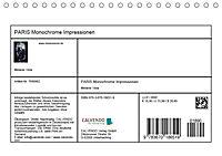 PARIS Monochrome Impressionen (Tischkalender 2019 DIN A5 quer) - Produktdetailbild 13