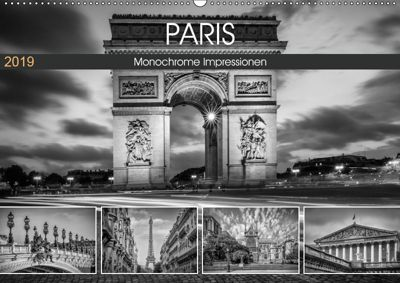 PARIS Monochrome Impressionen (Wandkalender 2019 DIN A2 quer), Melanie Viola