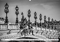 PARIS Monochrome Impressionen (Wandkalender 2019 DIN A2 quer) - Produktdetailbild 7