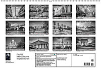 PARIS Monochrome Impressionen (Wandkalender 2019 DIN A2 quer) - Produktdetailbild 13