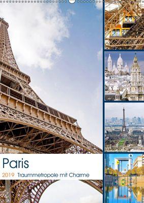 Paris Traummetropole mit Charme (Wandkalender 2019 DIN A2 hoch), Nina Schwarze