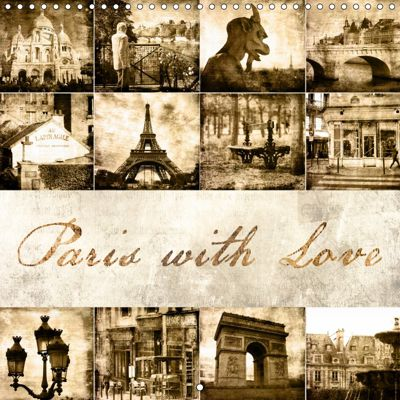 Paris with love (Wall Calendar 2019 300 × 300 mm Square), Jeanette Dobrindt