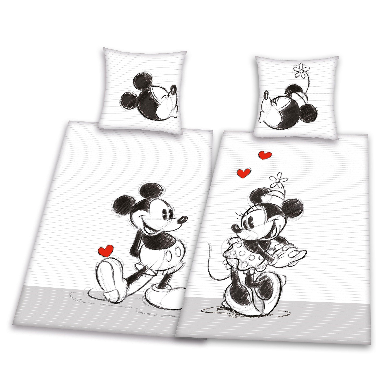 Partner Bettwäsche Mickey Minnie Doppelpack Größe 155 X 220 Cm