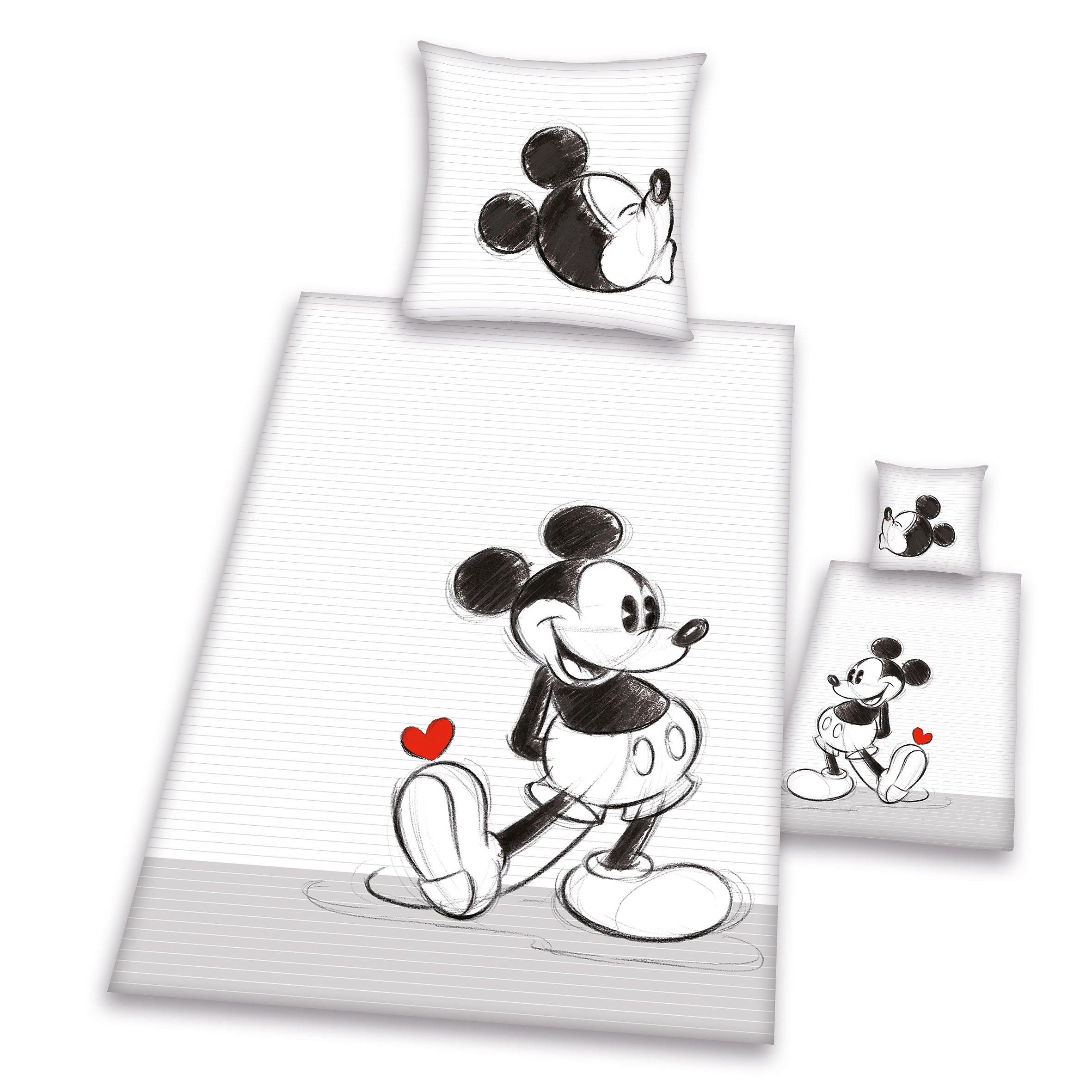 Partner Bettwäsche Mickey Minnie Doppelpack Grösse 135 X 200 Cm