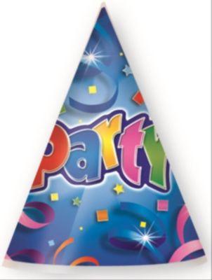 Party Streamers Partyhüte 6 Stück