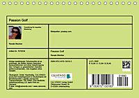 Passion Golf (Tischkalender 2019 DIN A5 quer) - Produktdetailbild 13