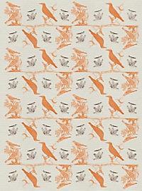 Pasta für Nachtigallen Geschenkpapier-Heft - Motiv Orange Federn - Produktdetailbild 1