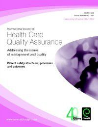 Patient Safety Structures, Processes and Outcomes