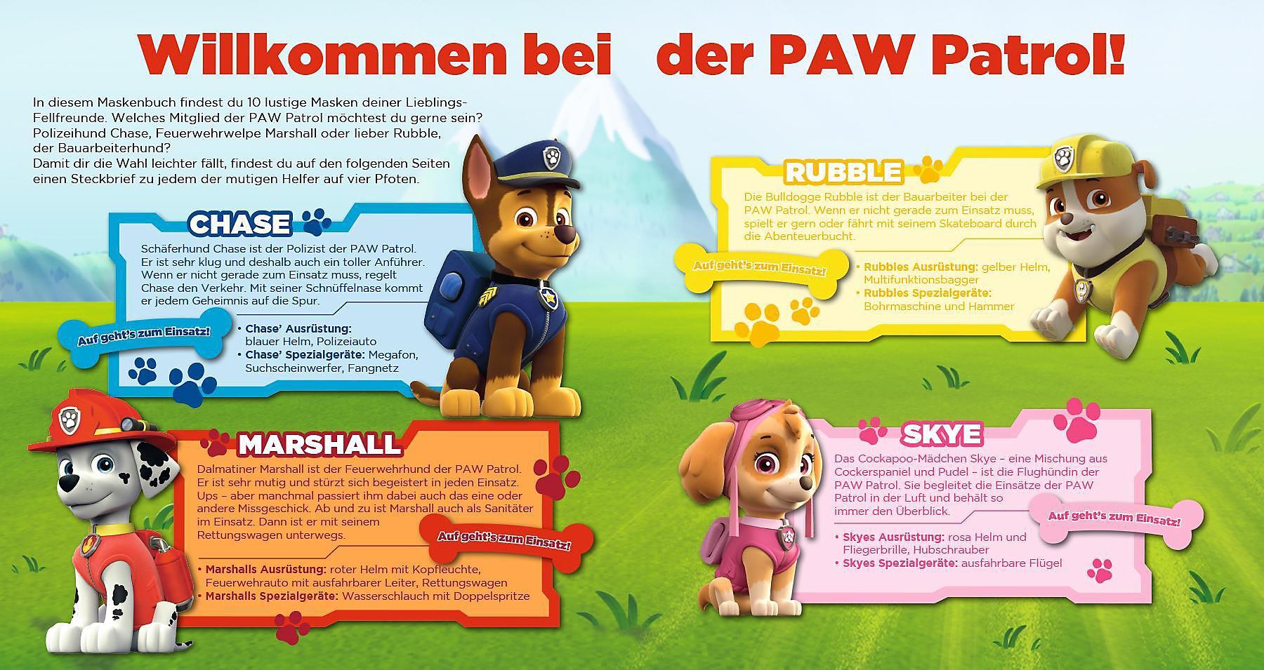 Paw Patrol Mein Maskenbuch Buch Versandkostenfrei Bei
