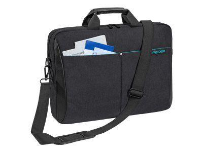 PEDEA Notebooktasche 43,9cm 17,3 Zoll Lifestyle schwarz. Innenmasse: 440 x 325 x 30 mm