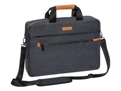 PEDEA Notebooktasche Elegance Pro 39,6cm 15,6Zoll grau Notebookfach: 39 x 27 x 5 cm Tabletfach: 27 x 20 x 2 cm