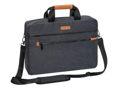 PEDEA Notebooktasche Elegance Pro 43,9cm 17,3Zoll grau Notebookfach: 42 x 30 x 5 cm Tabletfach: 27 x 20 x 2 cm