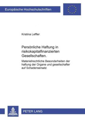 Persönliche Haftung in risikokapitalfinanzierten Gesellschaften, Kristina Leffler