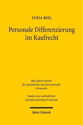 Personale Differenzierung im Kaufrecht - Lydia Beil |