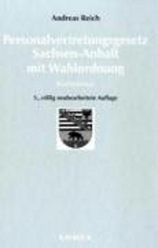 Personalvertretungsgesetz Persvg Sachsen Anhalt Mit Wahlordnung