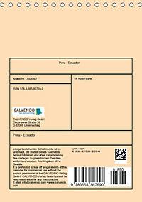 Peru - Ecuador (Tischkalender 2018 DIN A5 hoch) - Produktdetailbild 13