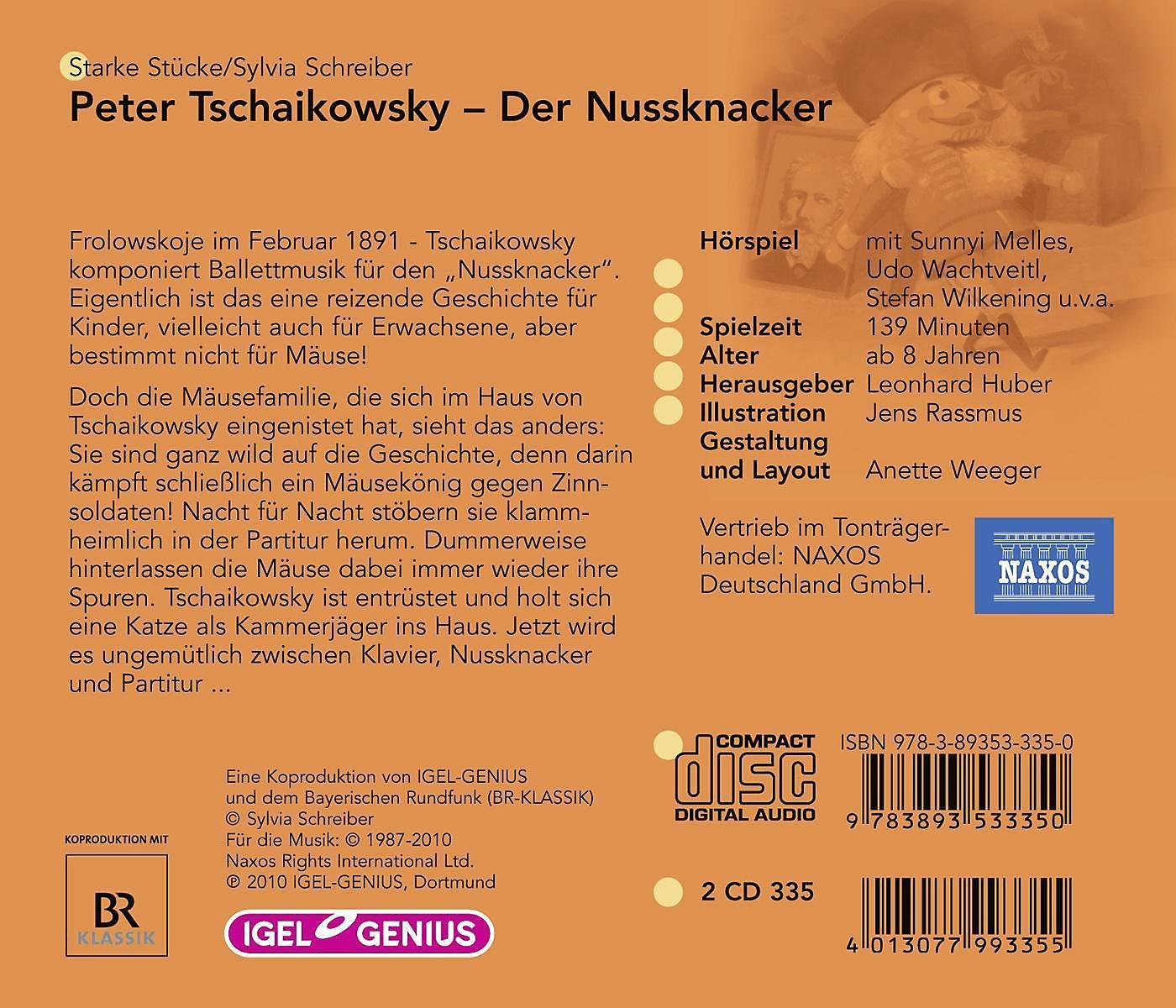 Peter Tschaikowsky - Der Nussknacker, 2 CDs von Sylvia