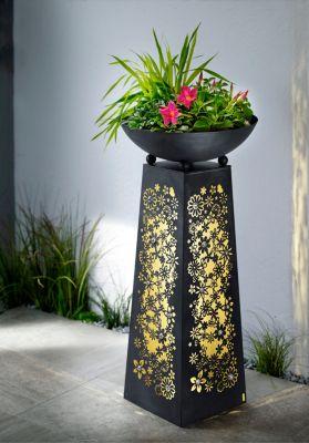 Pflanzsäule Flora, beleuchtet