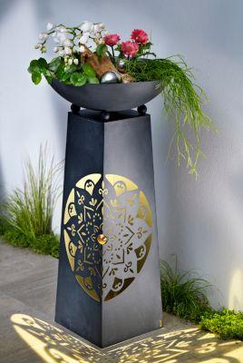 Pflanzsäule Mandala mit Beleuchtung
