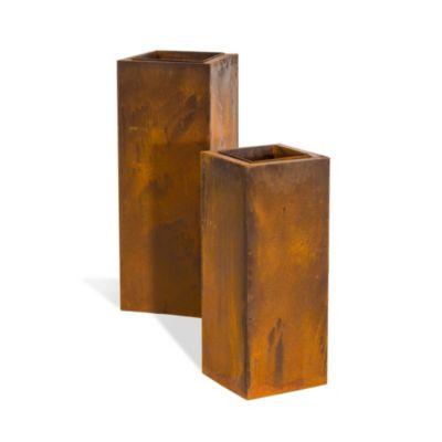Pflanzsäulen-Set Corrido, 2-tlg. Höhe 90cm + 70 cm