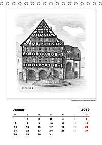 Pfullingen in Kohlezeichnungen (Tischkalender 2019 DIN A5 hoch) - Produktdetailbild 1