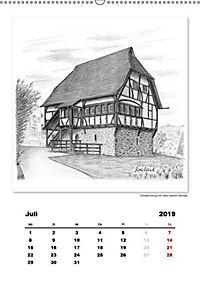 Pfullingen in Kohlezeichnungen (Wandkalender 2019 DIN A2 hoch) - Produktdetailbild 1
