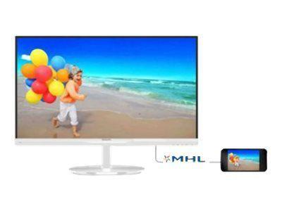 PHILIPS 234E5QHAW/00 58,4cm 23Zoll Wide TFT LCD W-LED 16:9 1920x1080 analog+digital VGA HDMI 2x5W 20Mio:1 250cd 5ms weiss