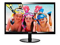 PHILIPS 246V5LHAB/00 61cm 24Zoll Wide LCD LED 16:9 5ms 1920x1080 250cd 10Mio:1 speaker digital VGA HDMI VESA schwarz - Produktdetailbild 2