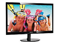 PHILIPS 246V5LHAB/00 61cm 24Zoll Wide LCD LED 16:9 5ms 1920x1080 250cd 10Mio:1 speaker digital VGA HDMI VESA schwarz - Produktdetailbild 1