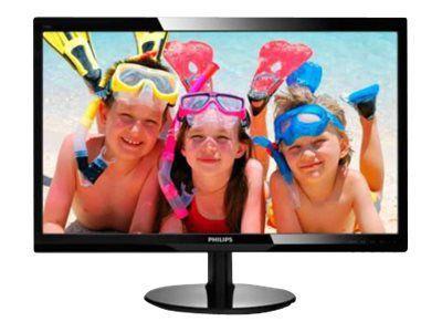 PHILIPS 246V5LHAB/00 61cm 24Zoll Wide LCD LED 16:9 5ms 1920x1080 250cd 10Mio:1 speaker digital VGA HDMI VESA schwarz