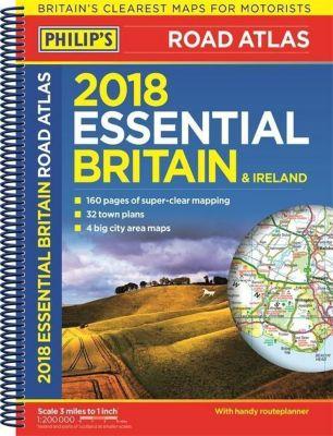 Philip's Road Atlas Britain and Ireland 2018