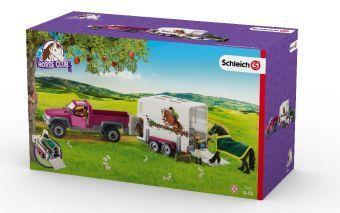 Pick-up mit Pferdeanhänger, Kunststoff-Figuren, Schleich®