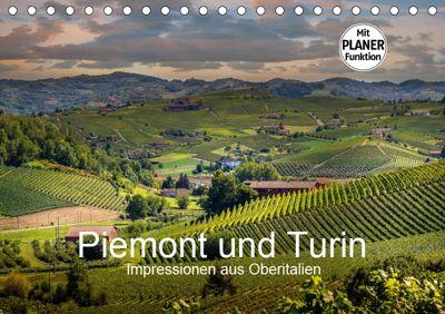 Piemont und Turin (Tischkalender 2019 DIN A5 quer), Michael Fahrenbach