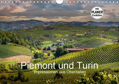 Piemont und Turin (Wandkalender 2019 DIN A4 quer), Michael Fahrenbach