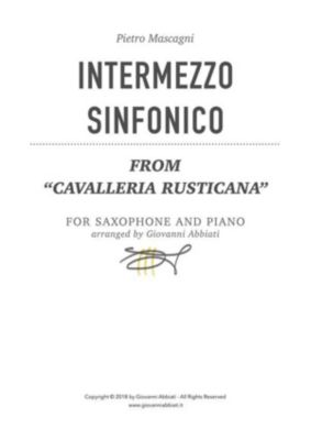 Pietro Mascagni Intermezzo sinfonico (from Cavalleria rusticana) for saxophone and piano, Giovanni Abbiati