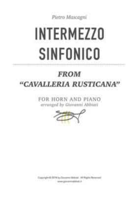 """Pietro Mascagni Intermezzo sinfonico (from """"Cavalleria rusticana"""") for horn and piano, Giovanni Abbiati"""