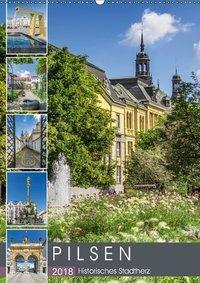 PILSEN Historisches Stadtherz (Wandkalender 2018 DIN A2 hoch), Melanie Viola