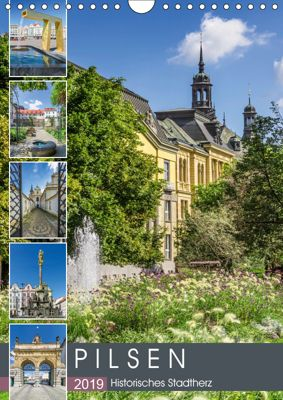 PILSEN Historisches Stadtherz (Wandkalender 2019 DIN A4 hoch), Melanie Viola